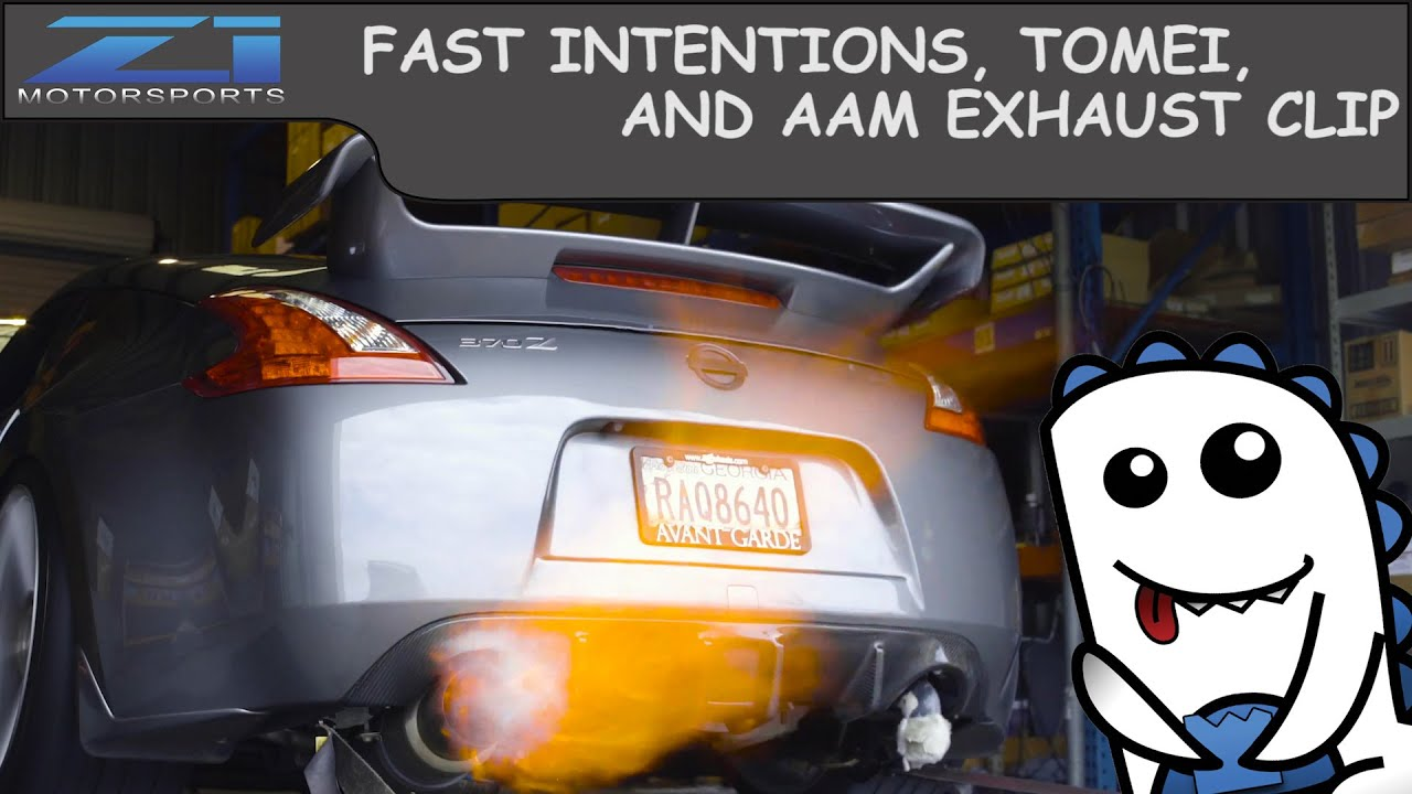 2014 Nissan 370z - Fast Intentions, AAM, and Tomei - Exhaust Clips