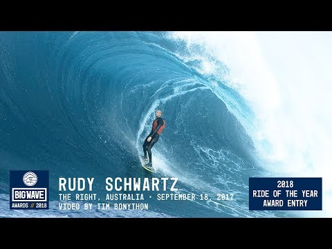 Rudi Schwartz at The RIght  - 2018 Ride of the Year Award Entry - WSL Big Wave Awards