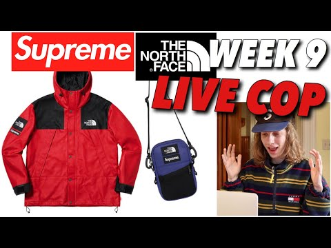 LEATHER IS EXPENSIVE! Supreme TNF FW '18 Week 9 Live Cop!