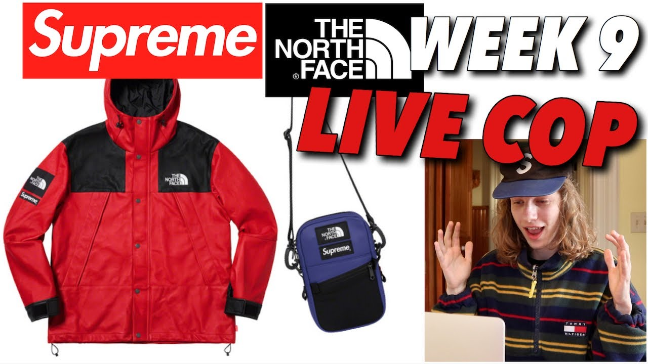 6429aeb1 LEATHER IS EXPENSIVE! Supreme TNF FW '18 Week 9 Live Cop! - YouTube