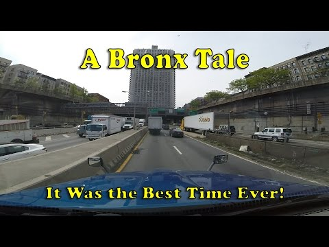 Driving through The Bronx and over the George Washington Bridge