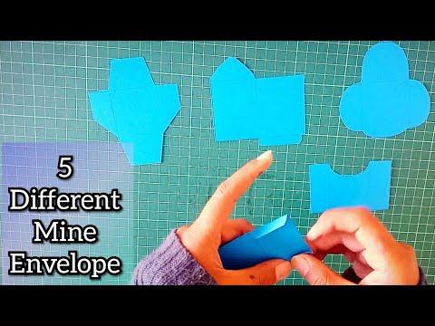 How To Make Mini Envelope Super Easy - DIY Mini Envelope - Paper Envelope Tutorial