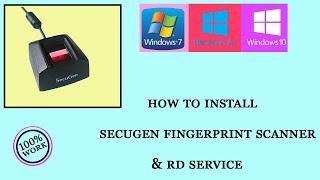 how to  install secugen fingerprint  & rd service . screenshot 1