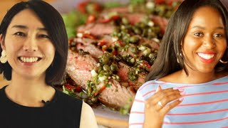 How Rie And Kiano Make Steak At Home