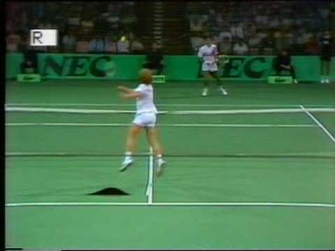Tennis Davis Cup 1985 Westphal - Smid (Carpet trouble - Part 1)
