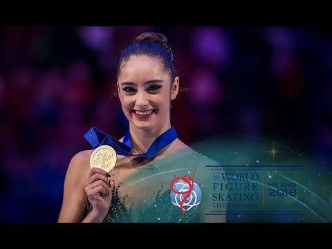 Kaetlyn Osmond (CAN) realizes she is a World Champion - YouTube