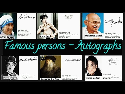 famous personalities signatures