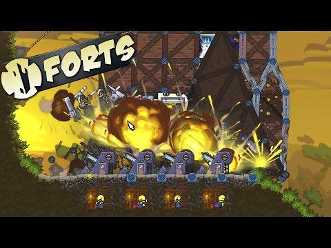 Forts Total DESTRUCTION!  2v2 Skilled...