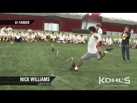 Nick Williams | #12 Ranked Kicker in America | Class of 2018