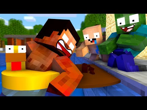 Monster School: FUNNY SWIMMING CHALLENGE - Best Minecraft Animation