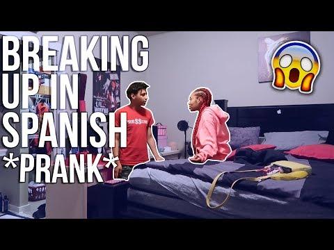 BREAKING UP IN SPANISH PRANK ON HALI! **Goes Crazy**