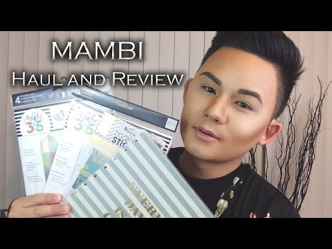 MAMBI Haul & Review, Happy Planner   Me & My BIG Ideas