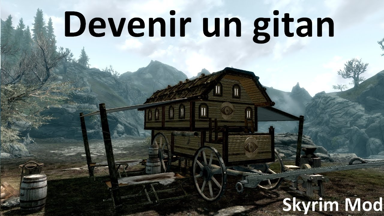 skyrim mod fr acheter une caravane devenez gitan d couverte youtube. Black Bedroom Furniture Sets. Home Design Ideas