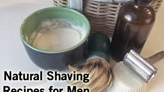 How to Make an All Natural Shaving Cream (Perfect for Men Too!)