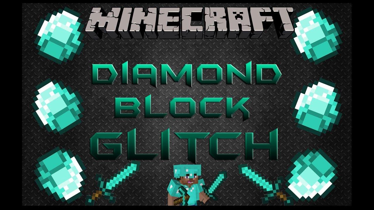 Minecraft   Diamond Block Duplication Glitch [1.8.4] - YouTube