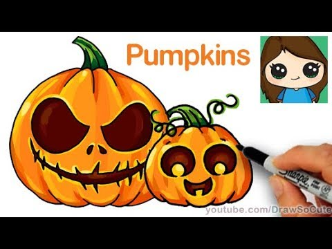 How to draw a pumpkin easy youtube Awesome pumpkin drawings