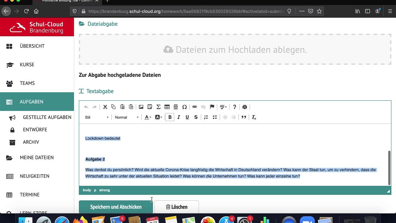 Brandenburg Schul-Cloud: Wo finden Schüler*innen ihre Aufgaben?
