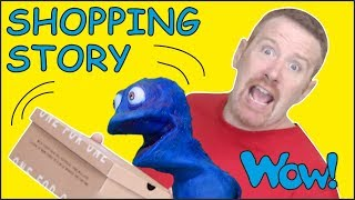Shoe Shopping Story for Kids from Steve and Maggie | Free Stories Wow English TV | Learn Words