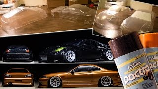 RC Drift Body Painting Tutorial : Yokomo ORC 350z, D-Like S15, Pactra Paint