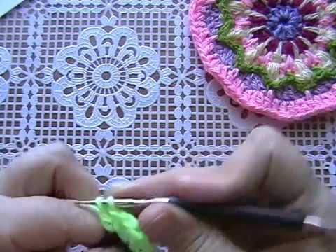Вязание мандалы крючком видео