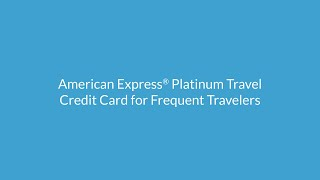 American Express Platinum Travel Credit Cards: Apply Online