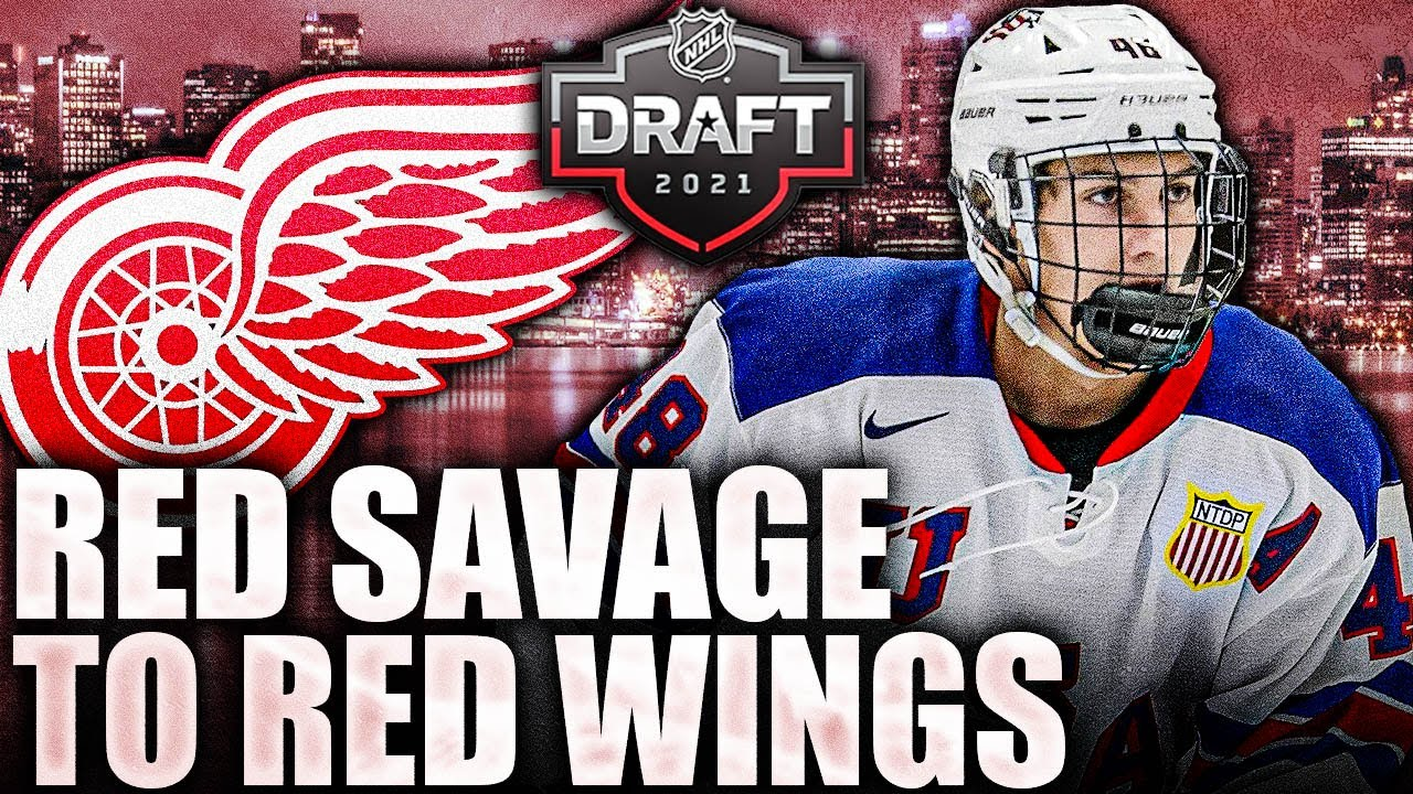 RED SAVAGE TO DETROIT RED WINGS (2021 NHL Entry Draft Top Prospects News & Rumours Today)