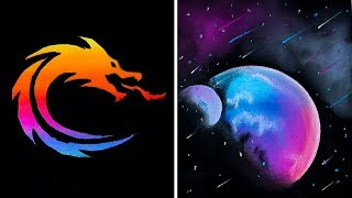 Awesome drawing tricks timestamps: 00:12 how to draw easy with acrylic paint 01:56 master pastel chalk (dragon drawing) 03:08 diy pa...