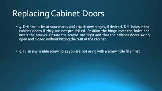 How to Replace Kitchen Cabinet Doors & Drawers