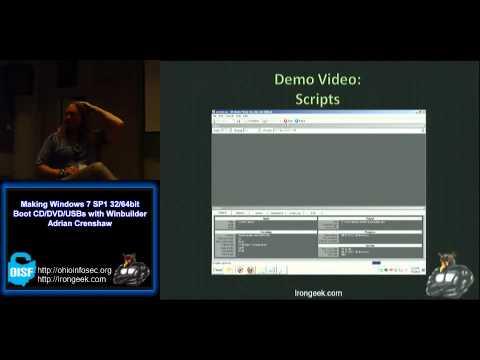 Making Windows 7 SP1 32/64bit Boot CD/DVD/USBs with Winbuilder
