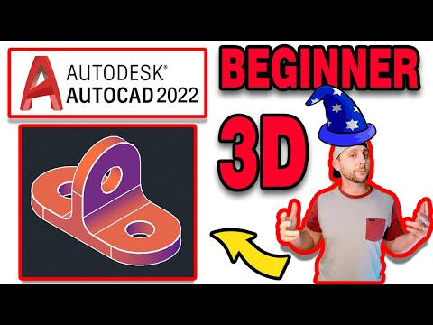 Introduction To AutoCAD 2020 - 3D Basics - #7 - The 3D7 Drawing!
