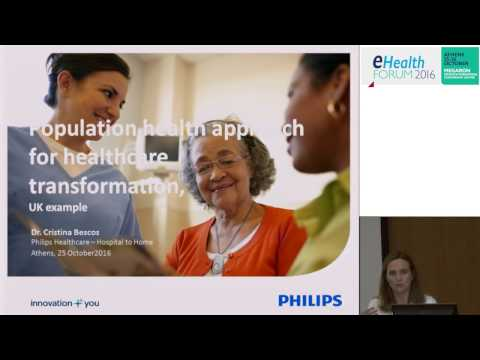 eHealth Forum 2016 | Cristina Bescos: Population health approach for healthcare transformation