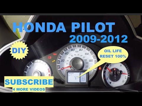 How to reset oil life on 2009-2012 Honda Pilot