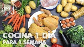 COCINA 1 DÍA PARA TODA 1 SEMANA | Meal Prep