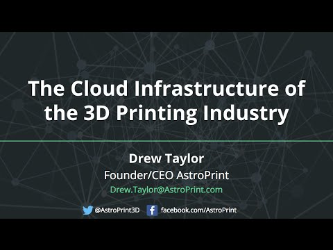 The Cloud Infrastructure of the 3D Printing Industry