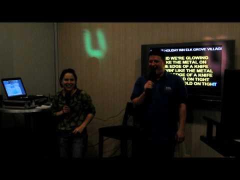 Jason and Jess singing Karaoke