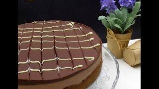 Tarta de queso y chocolate sobre galleta SIN HORNO Lorraine Pascale