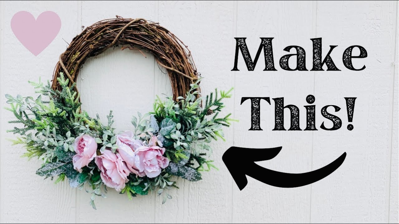 How to make a winter wreath for Valentine's Day/ Step By Step Wreath Making Tutorial