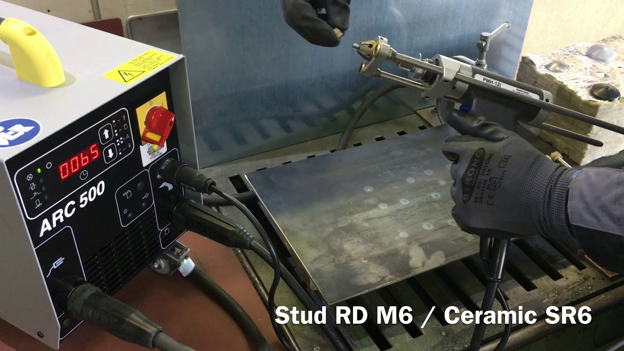 Stud welding machine for studs and insulation pins