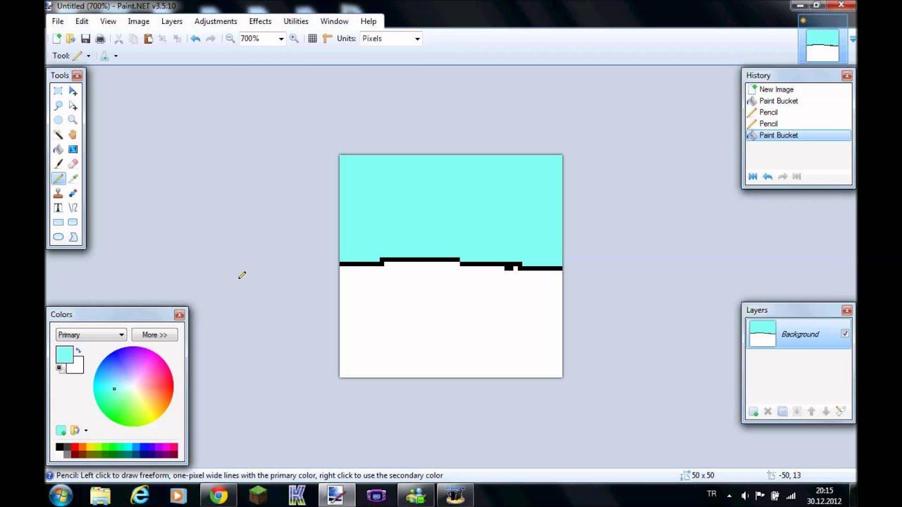 paint windows 7 pixel art
