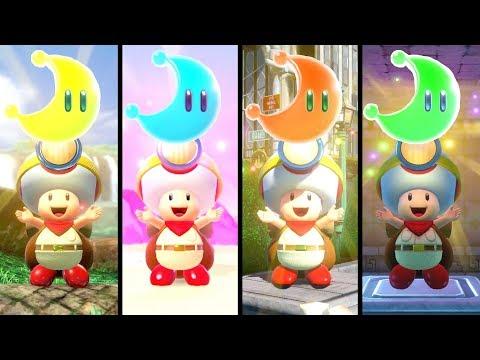 Captain Toad Treasure Tracker - All Super Mario Odyssey Levels