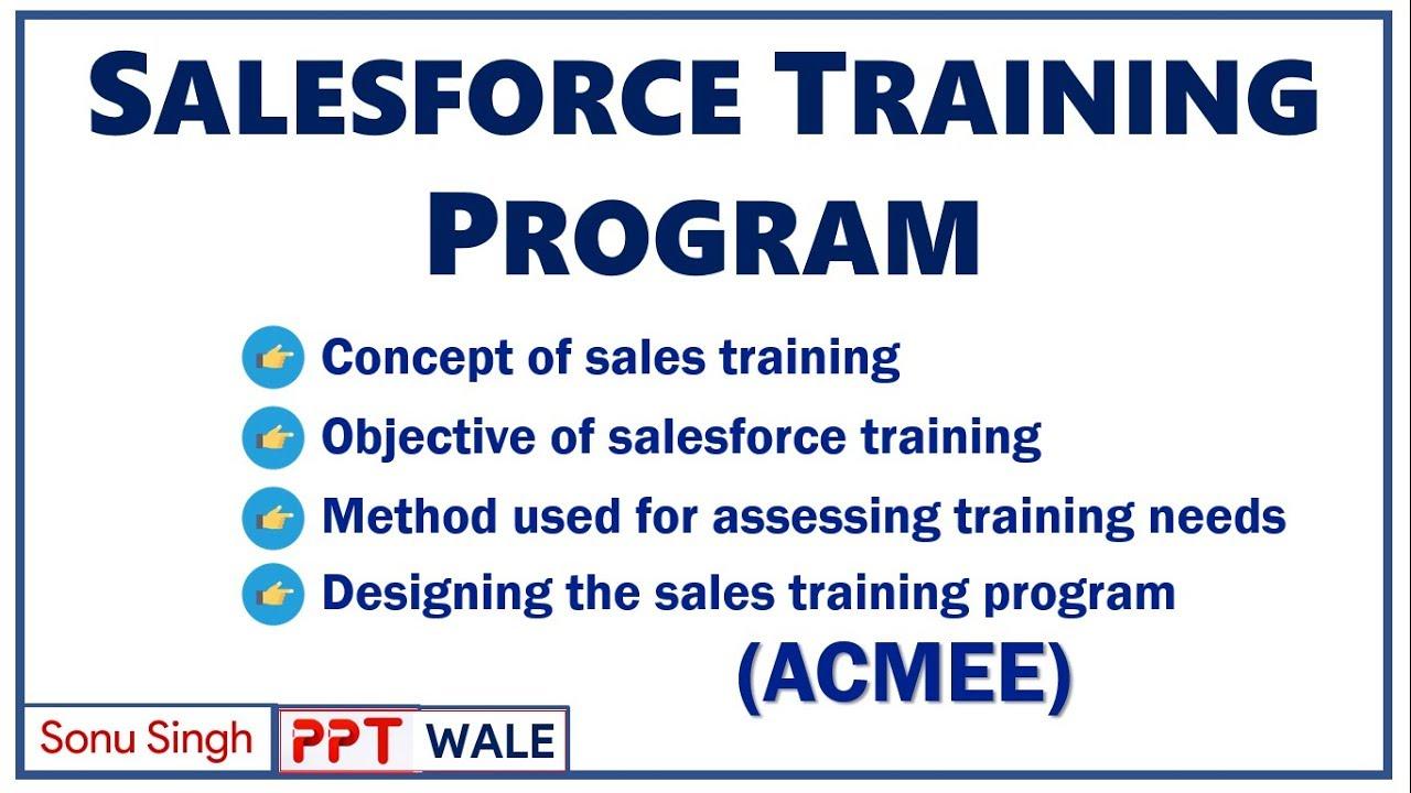 sales force training program importance objectives methods