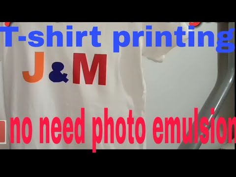 T-shirt printing no photo emulsion l how to make l DIY tshirt printing using paper and cut out