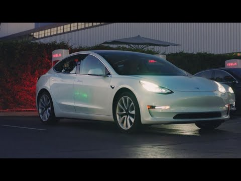 Tesla shows off 'affordable' Model 3 electric car