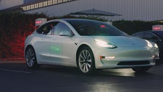 Tesla shows off 'affordable' Model 3 electric car