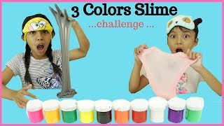 3 COLORS SLIME CHALLENGE