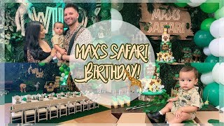 MAX'S FIRST BIRTHDAY *SAFARI THEME*