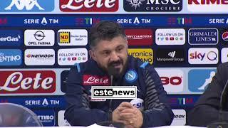 Napoli-Parma 1-2, la conferenza di Gattuso