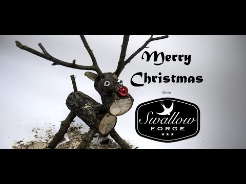 How To Make A Wooden Log Reindeer. Swallow Forge