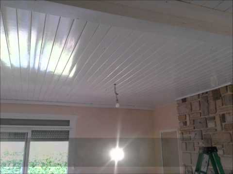 Professionnel plafond tendu youtube - Lambris pvc blanc brillant pour plafond ...