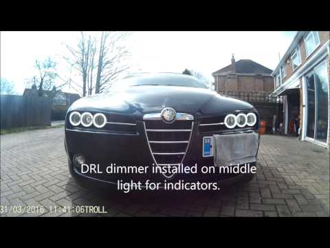 Alfa Romeo 159 & Brera COB angel eyes (halo's) & 50w HID kit